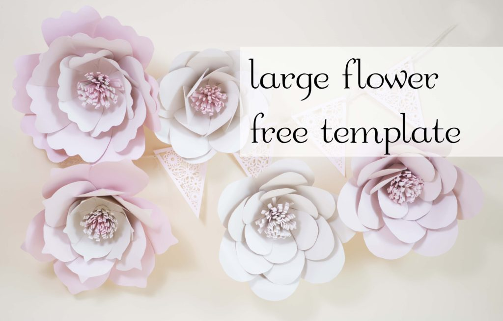 Template For Paper Flowers | Giant Paper Flowers Free Template Charmed By Ashley