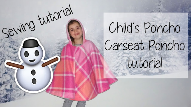 Child Carseat Poncho pattern instructions