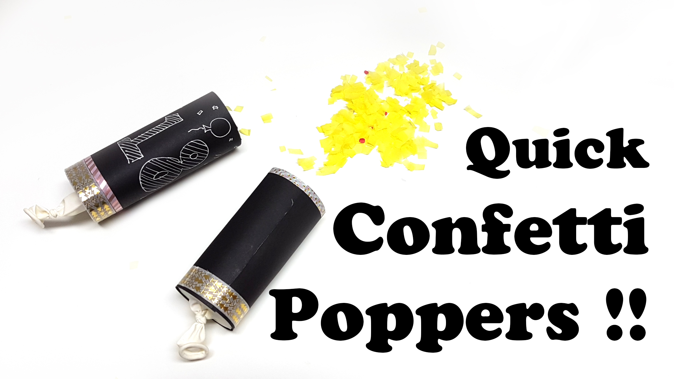 Easy Confetti Poppers