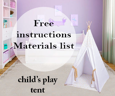 childs Teepee free instructions