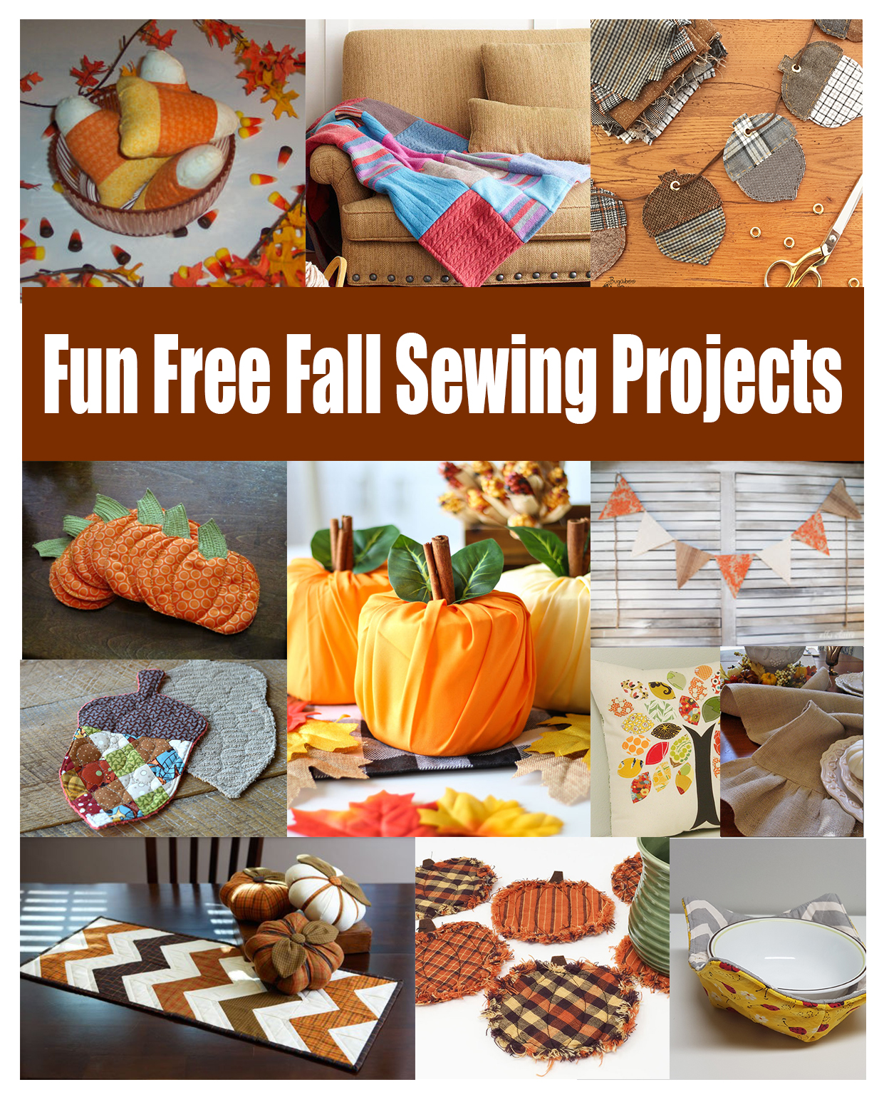 Fun Fall Decor Sewing tutorials