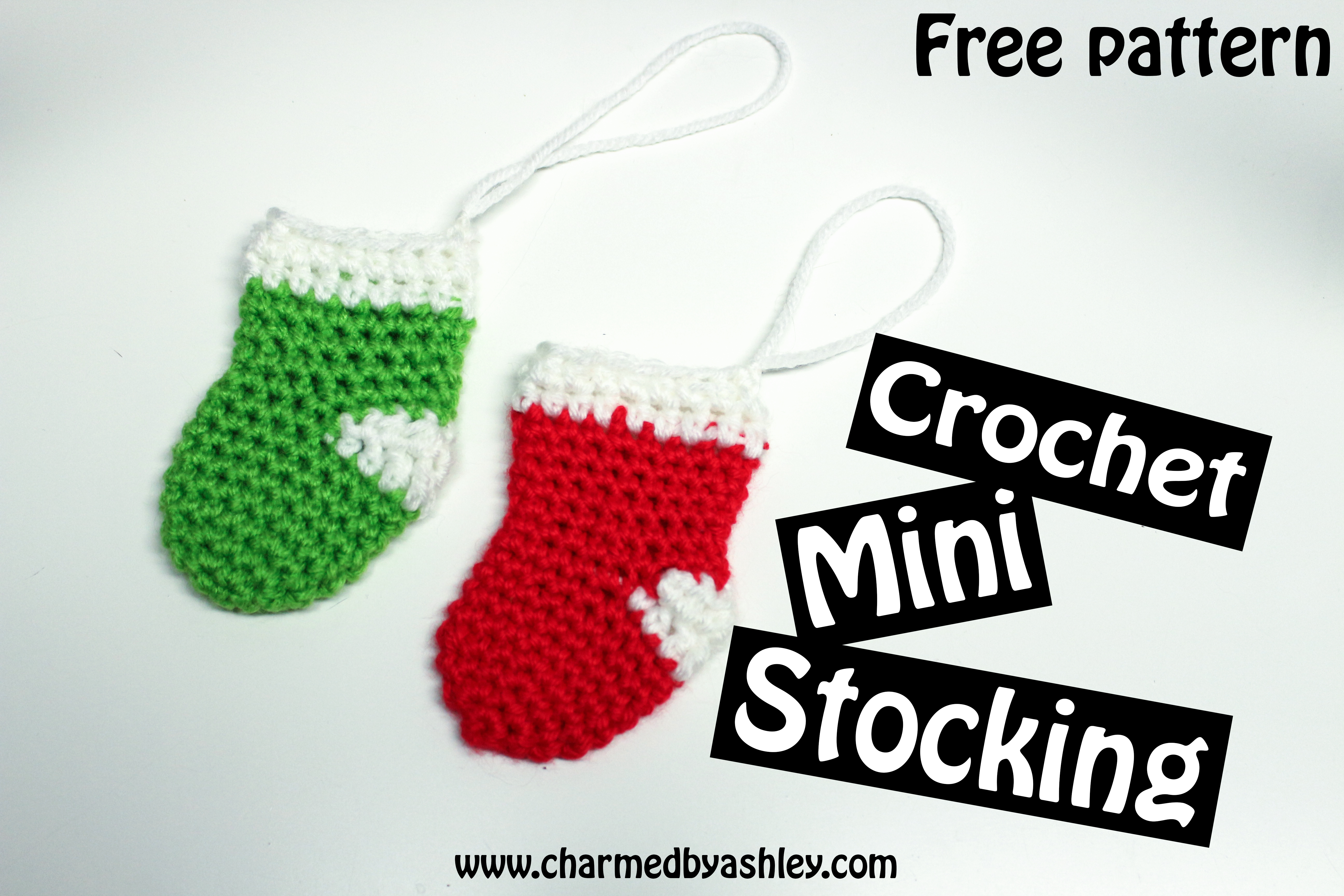 Mini Stocking Free Pattern Tutorial Charmed By Ashley