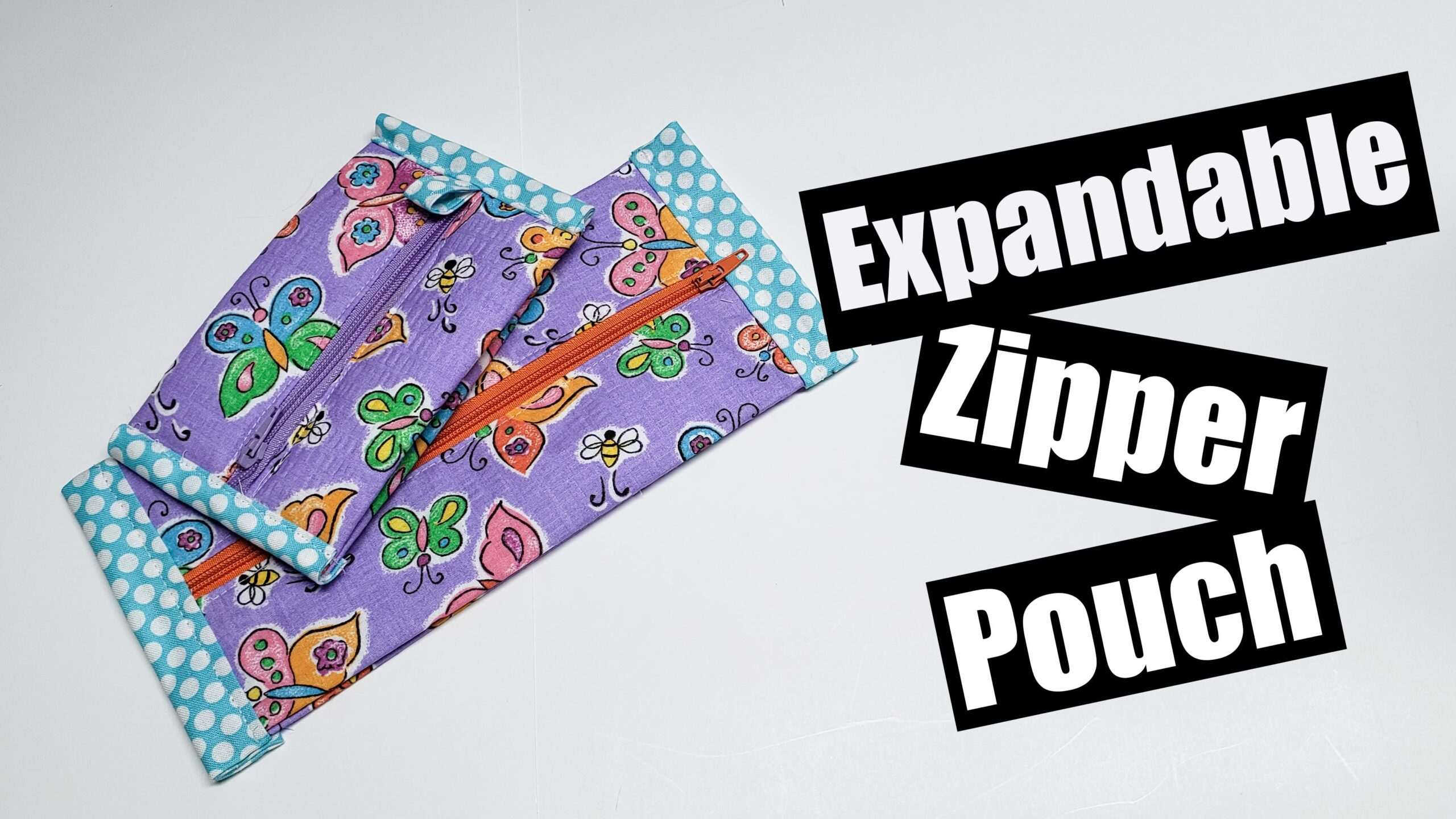 Expandable Zipper pouch