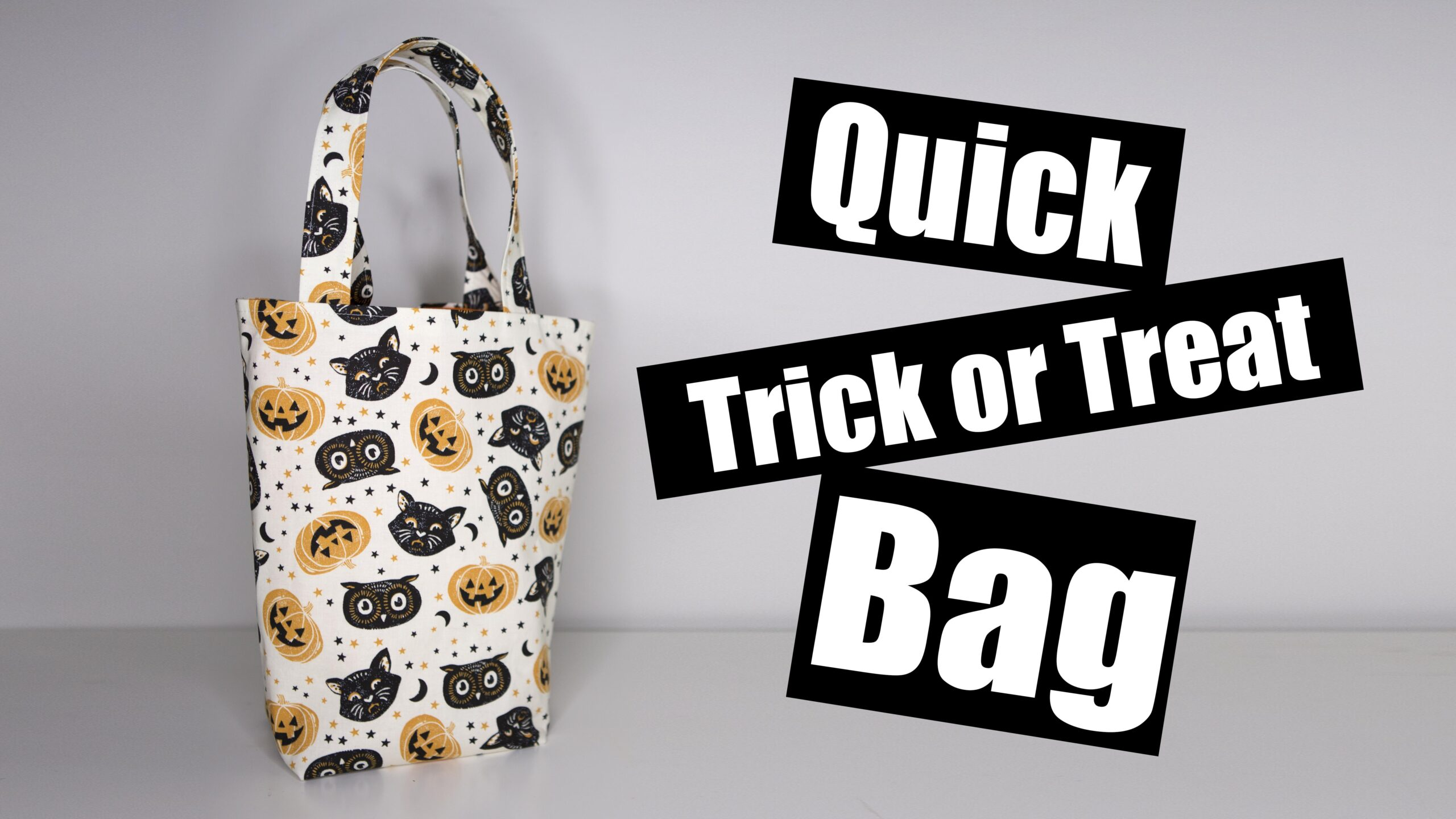 Quick trick or treat bag
