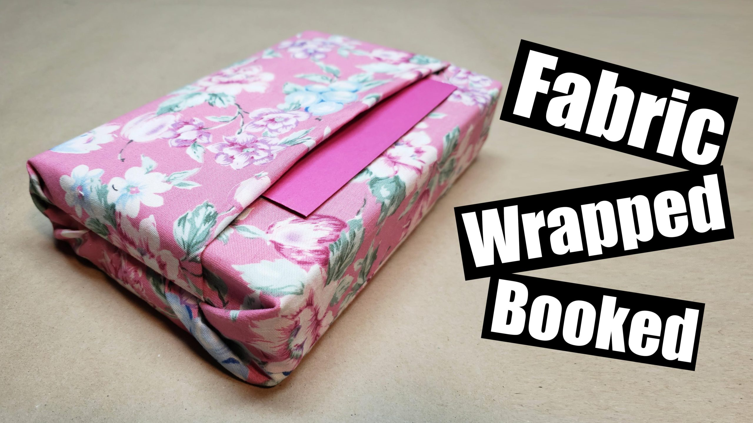 Wrapping Books with Fabric